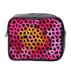 Mosaic Structure Pattern Background Mini Toiletries Bag (two Sides)