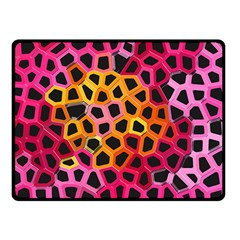 Mosaic Structure Pattern Background Fleece Blanket (small)