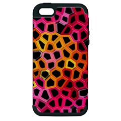 Mosaic Structure Pattern Background Apple Iphone 5 Hardshell Case (pc+silicone)