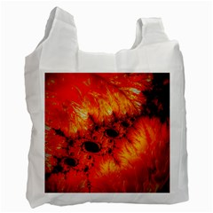 Red Fractal Mandelbrot Art Wallpaper Recycle Bag (two Side) by Pakrebo
