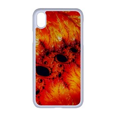 Red Fractal Mandelbrot Art Wallpaper Apple Iphone Xr Seamless Case (white)