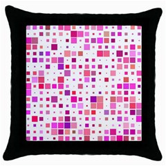 Square Pattern Colorful Throw Pillow Case (black)