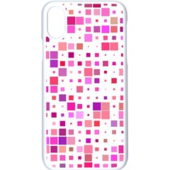 Square Pattern Colorful Apple Iphone X Seamless Case (white) by AnjaniArt