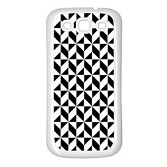 Seamless Abstract Geometric Pattern Samsung Galaxy S3 Back Case (white)