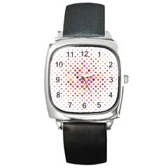 Square Pattern Background Repeat Square Metal Watch