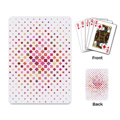 Square Pattern Background Repeat Playing Cards Single Design by AnjaniArt
