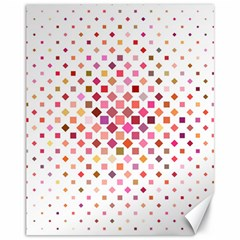Square Pattern Background Repeat Canvas 11  X 14