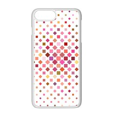Square Pattern Background Repeat Apple Iphone 8 Plus Seamless Case (white)