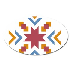 Star Flag Oval Magnet by AnjaniArt