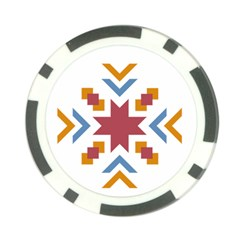 Star Flag Poker Chip Card Guard
