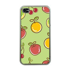 Seamless Fruit Apple Iphone 4 Case (clear) by AnjaniArt