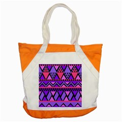Seamless Purple Pink Pattern Accent Tote Bag by AnjaniArt
