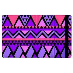 Seamless Purple Pink Pattern Apple Ipad 2 Flip Case by AnjaniArt