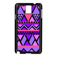 Seamless Purple Pink Pattern Samsung Galaxy Note 3 N9005 Case (black) by AnjaniArt