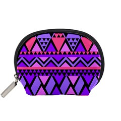 Seamless Purple Pink Pattern Accessory Pouch (small) by AnjaniArt