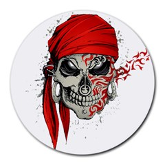 Skull Round Mousepads by AnjaniArt