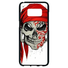 Skull Samsung Galaxy S8 Black Seamless Case by AnjaniArt