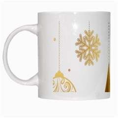 Star Christmas Ornaments White Mugs by AnjaniArt