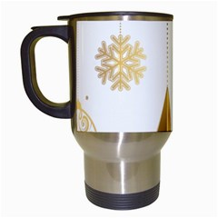 Star Christmas Ornaments Travel Mugs (white)