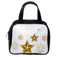 Star Christmas Ornaments Classic Handbag (one Side) by AnjaniArt