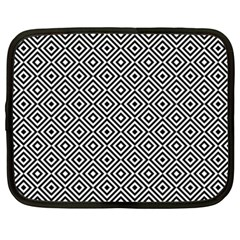 Square Diagonal Concentric Pattern Netbook Case (xxl) by AnjaniArt