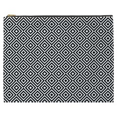 Square Diagonal Concentric Pattern Cosmetic Bag (xxxl)