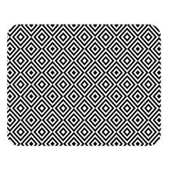 Square Diagonal Concentric Pattern Double Sided Flano Blanket (large)