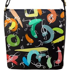 Repetition Seamless Tone Flap Closure Messenger Bag (s) by AnjaniArt