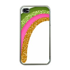 Rainbow Cartoon Illustration Apple Iphone 4 Case (clear)