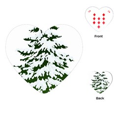 Winter Snowy Pine Tree Playing Cards (heart)