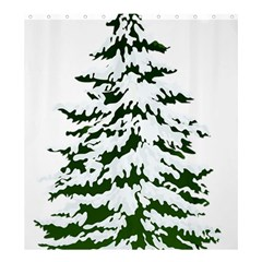 Winter Snowy Pine Tree Shower Curtain 66  X 72  (large)