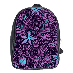 Stamping Pattern Leaves School Bag (large) by AnjaniArt