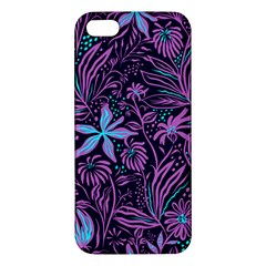 Stamping Pattern Leaves Apple Iphone 5 Premium Hardshell Case