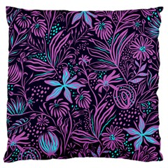 Stamping Pattern Leaves Standard Flano Cushion Case (one Side)