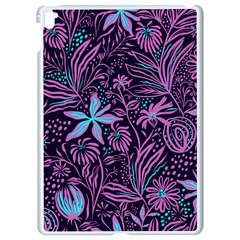 Stamping Pattern Leaves Apple Ipad Pro 9 7   White Seamless Case