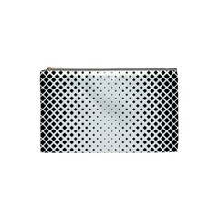 Square Rounded Background Cosmetic Bag (small)
