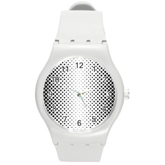 Square Rounded Background Round Plastic Sport Watch (m)
