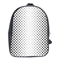 Square Rounded Background School Bag (xl)