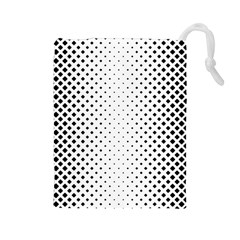 Square Rounded Background Drawstring Pouch (large)