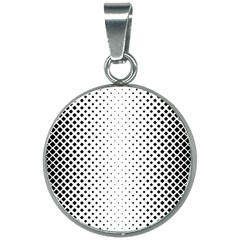 Square Rounded Background 20mm Round Necklace