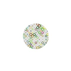 Square Colorful Geometric Style 1  Mini Buttons