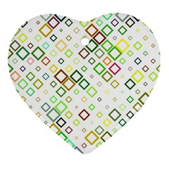 Square Colorful Geometric Style Ornament (heart)