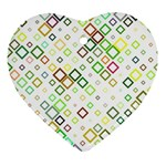 Square Colorful Geometric Style Ornament (Heart) Front