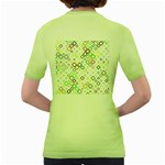 Square Colorful Geometric Style Women s Green T-Shirt Back