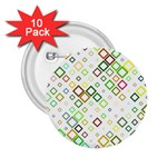 Square Colorful Geometric Style 2.25  Buttons (10 pack)  Front