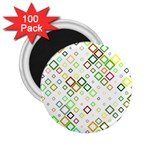 Square Colorful Geometric Style 2.25  Magnets (100 pack)  Front
