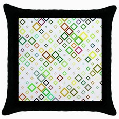 Square Colorful Geometric Style Throw Pillow Case (black)