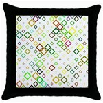 Square Colorful Geometric Style Throw Pillow Case (Black) Front