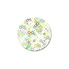 Square Colorful Geometric Style Golf Ball Marker