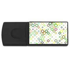 Square Colorful Geometric Style Rectangular Usb Flash Drive